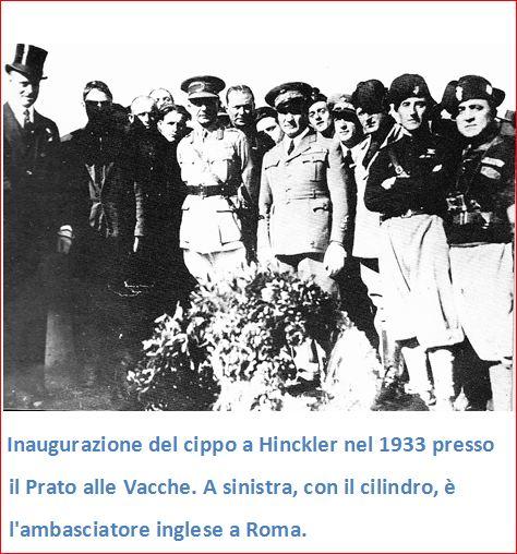 L'inaugurazione del Cippo